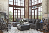Shop Ashley Furniture Owensbe Charcoal Left Side Chaise Sectional at Mealey's Furniture