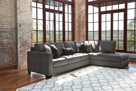 Shop Ashley Furniture Owensbe Charcoal Right Side Chaise Sectional at Mealey's Furniture