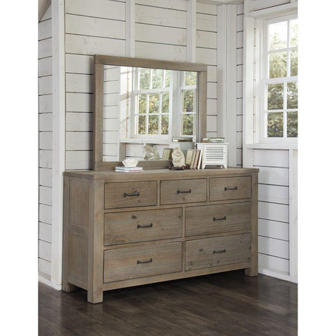 Shop Hillsdale Hudson (Highlands) Driftwood Dresser & Mirror at Mealey's Furniture