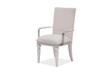 Shop Aico Glimmering Heights Ivory Arm Chair at Mealey's Furniture
