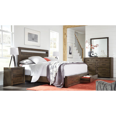 Shop Aspenhome Modern Loft Brown Queen Storage Bed at Mealey's Furniture