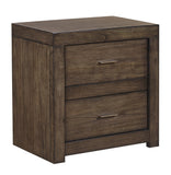 Shop Aspen Home Modern Loft Brown 2 Drawer Nightstand W/Power at Mealey's Furniture