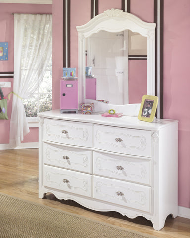 Shop Ashley Exquisite White Dresser with Mirror at Mealey's Furniture