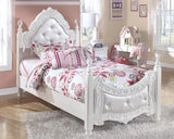 Shop Ashley Exquisite White Twin Poster Bed at Mealey's Furniture