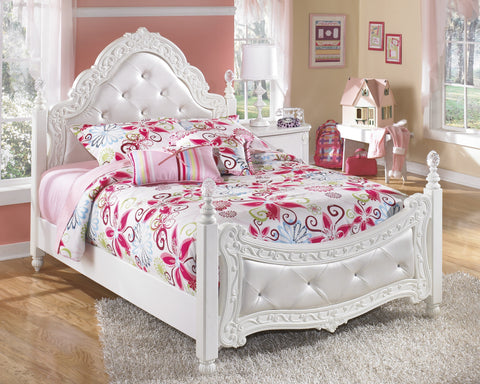 Shop Ashley Exquisite White Full Poster Bed at Mealey's Furniture