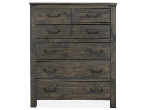 Shop Magnussen Abington Weathered Charcoal 5 Drawer Chest at Mealey's Furniture