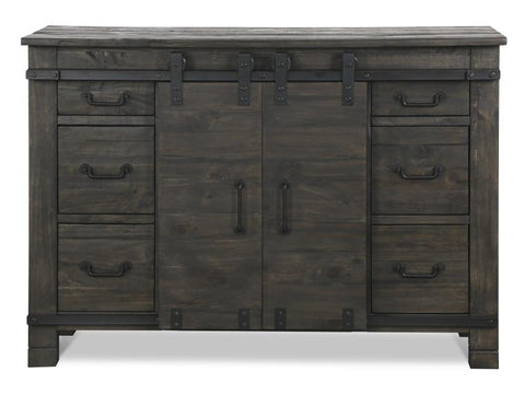 Shop Magnussen Abington Weathered Charcoal Media Chest at Mealey's Furniture