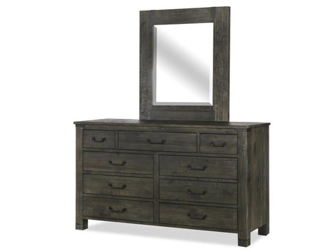 Shop Magnussen Abington Weathered Charcoal Dresser and Mirror at Mealey's Furniture