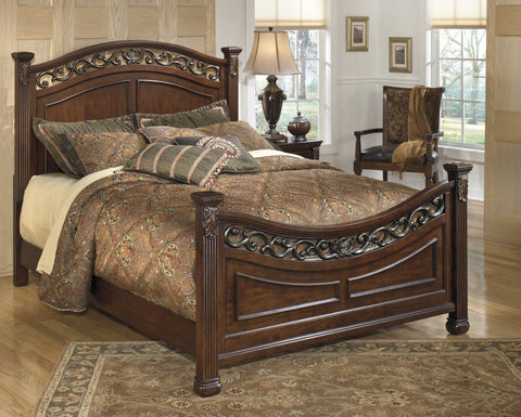 Shop Ashley Leahlyn Warm Brown Queen Bed at Mealey's Furniture