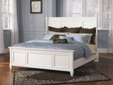 Shop Ashley Prentice White King Panel Bed at Mealey's Furniture