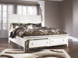 Shop Ashley Prentice White Queen Sleigh Storage Bed at Mealey's Furniture