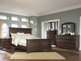Shop Ashley Porter Rustic Brown King Panel Bed Dresser Mirror Chest and Nightstand at Mealey's Furniture
