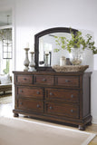 Shop Ashley Porter Rustic Brown Dresser with Mirror at Mealey's Furniture