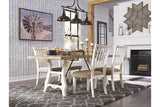 Dazzleton Light Brown and White Dining Set
