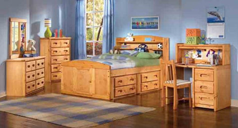 Shop Trendwood Bunkhouse Full Captain Bed Double Storage at Mealey's Furniture