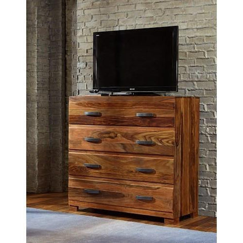Shop Hillsdale Madera Natural Sheesham Media Chest at Mealey's Furniture