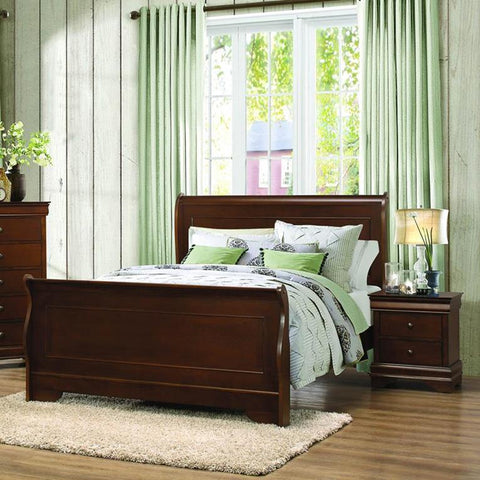 Shop Homelegance Abbeville Queen Sleigh Bed at Mealey's Furniture