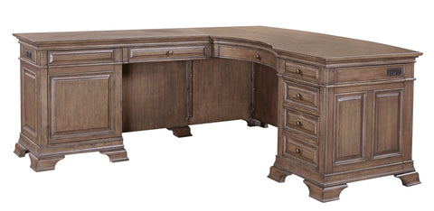 Shop Aspenhome Arcadia L-Shaped Desk at Mealey's Furniture
