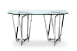 Shop Magnussen Lenox Glass and Chrome Sofa Table at Mealey's Furniture