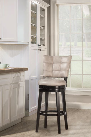 "Shop Hillsdale Kaede Weave Granite 26"" Swivel Counter Stool at Mealey's Furniture"