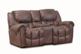 Shop Home Stretch Del Mar Mocha Power Reclining Loveseat With Console at Mealey's Furniture