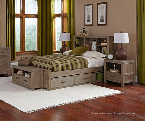 Shop Hillsdale Hudson (Highlands) Driftwood Underbed Storage at Mealey's Furniture
