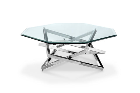 Shop Magnussen Lenox Glass And Chrome Coffee Table At Mealeyu0027s Furniture