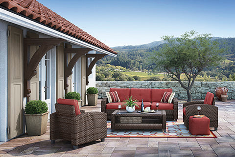 Shop Ashley Furniture Meadowtown Outdoor Entertainment Set at Mealey's Furniture
