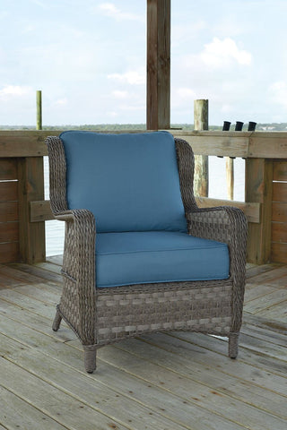 Shop Ashley Furniture Abbots Court Blue/Gray Lounge Chairs with Cushion at Mealey's Furniture