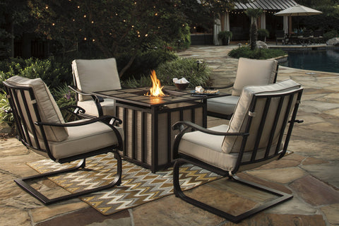 Shop Ashley Wandon Beige/Brown Fire Pit Table with 4 Chairs at Mealey's Furniture