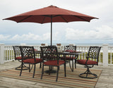 Shop Ashley Tanglevale Burnt Orange Rectangle Table with 6 Chairs at Mealey's Furniture