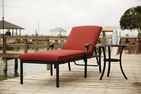 Shop Ashley Tanglevale Burnt Orange Chaise Lounge with End Table at Mealey's Furniture
