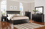 Shop Mealey's Spencer Black Queen Storage Bed at Mealey's Furniture