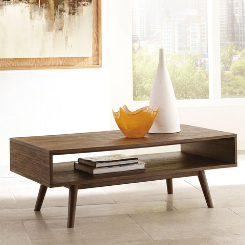 Shop Ashley Kisper Dark Brown Rectangular Cocktail Table at Mealey's Furniture