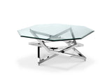 Shop Magnussen Lenox Glass and Chrome Coffee Table at Mealey's Furniture