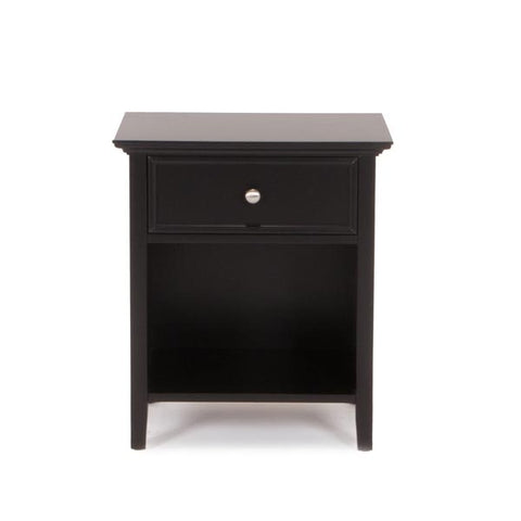 Shop Mealeyu0027s Spencer Black 1 Drawer Nightstand At Mealeyu0027s Furniture