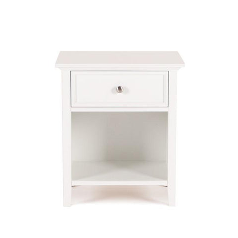 Spencer White 1 Drawer Nightstand