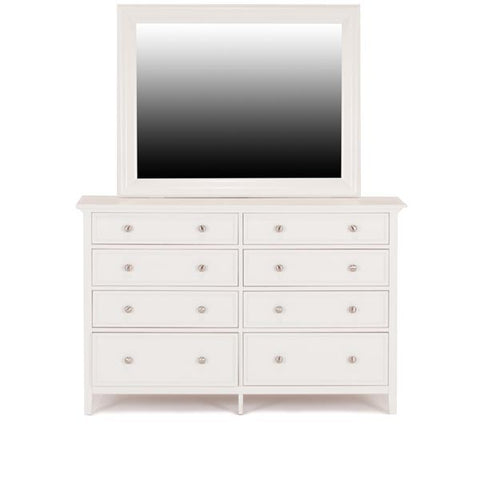 Shop Mealey's Spencer White Dresser & Mirror at Mealey's Furniture
