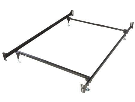 Metal Bed Frame Glideaway Steel Bolt On Twin Full Bed Frame With Leg