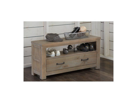Shop Hillsdale Hudson (Highlands) Driftwood Dressing Bench at Mealey's Furniture