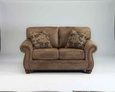 Shop Ashley Furniture Larkinhurst Earth Loveseat at Mealey's Furniture