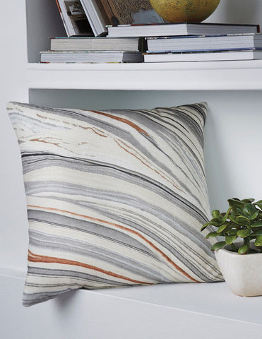Shop Ashley Furniture Miquel- Gray/Cream Pillow at Mealey's Furniture