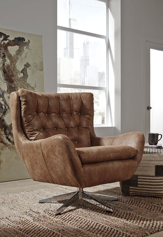 Velburg-  Brown Accent Chair