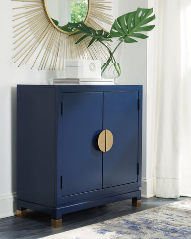 Shop Ashley Furniture Walentin Blue Accent Cabinet at Mealey's Furniture