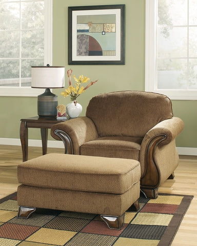 Shop Ashley Furniture Montgomery Mocha Ottoman at Mealey's Furniture