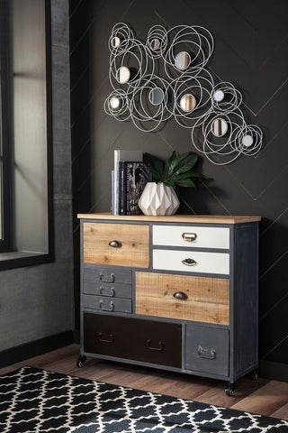 Shop Ashley Furniture Ponder Ridge Gray Accent Cabinet at Mealey's Furniture