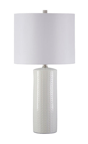 Shop Ashley Furniture Steuben White Ceramic Table Lamp (2/CN) at Mealey's Furniture