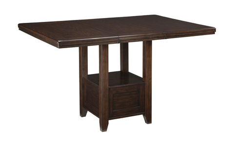 Shop Ashley Furniture Haddigan Dark Brown Rectangle Dining Room Counter Ext Table at Mealey's Furniture