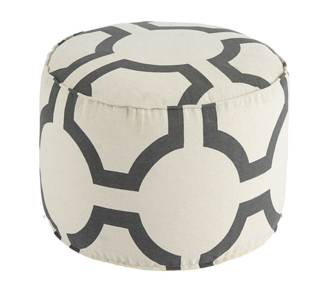 Shop Ashley Geometric Charcoal Pouf at Mealey's Furniture