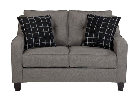 Shop Ashley Furniture Brindon Loveseat   Charcoal at Mealey's Furniture
